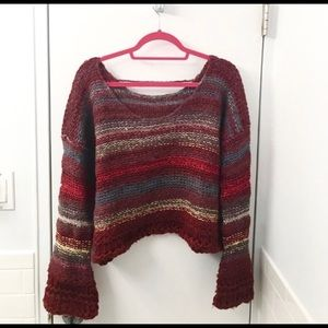 Free People rustic cropped sweater M